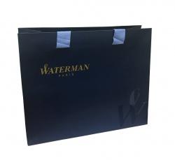 S0920870cover2 Waterman Hemisphere Подарочный набор Шариковая ручка, цвет: MattBlack CT, стержень: Mblue с чехлом на молнии