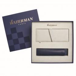 2068196cover3 Waterman Graduate Подарочный набор Перьевая ручка   ALLURE, цвет: черный, перо: F с чехлом