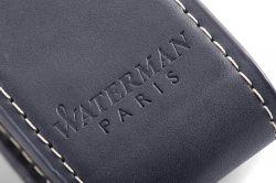 2019744 Waterman Carene Набор с чехлом из натуральной кожи и Шариковая ручка   De Luxe, цвет: Black/Silver