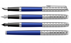 2117784 Waterman Hemisphere Ручка перьевая   French riviera Deluxe BLU LOUNGE в подарочной коробке
