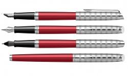 2117789 Waterman Hemisphere Ручка перьевая   French riviera Deluxe RED CLUB в подарочной коробке