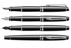 2122197 Waterman Expert Подарочный набор   с перьевой ручкой и чехлом Black CT перо M