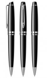 2122198 Waterman Expert Подарочный набор   с шариковой ручкой и чехлом Black CT, толщина линии M, чернила синие