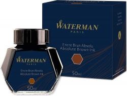 S0110830 Waterman Комплектующие Флакон с чернилами для перьевой ручки, цвет:  Absolute Brown