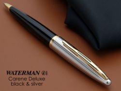 S0700000 Waterman Carene Шариковая ручка   De Luxe, цвет: Black/Silver, стержень: Mblue