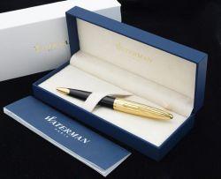 S0909810 Waterman Carene Шариковая ручка   Essential, цвет: Black GT, стержень: Mblue