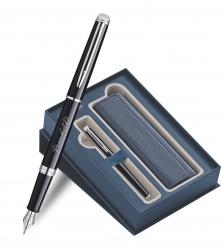 S0920510Gifts Waterman Hemisphere Набор с гравировкой: Чехол и Перьевая ручка   Essential, Black CT