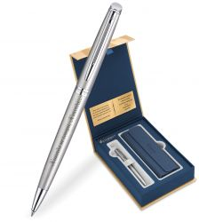 S0920470Gifts Waterman Hemisphere Подарочный набор: Чехол и Шариковая ручка   Essential, St. Steel CT