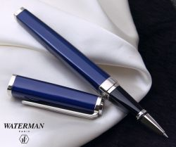 S0637150 Waterman Exception Ручка-роллер, цвет: Slim Blue ST, стержень: Fblk (TF)