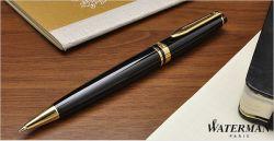 S0701280, S0951700 Waterman Expert Шариковая ручка, цвет: Black Laque GT, стержень: Mblue