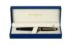 S0951680 Waterman Expert Ручка-роллер   3, цвет: Black Laque GT, стержень: Fblk