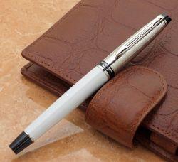 S0952420, S0889720 Waterman Expert Ручка-роллер   3, цвет: Deluxe White CT, стержень: Fblk