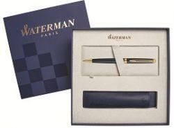 S0920770Cover Waterman Hemisphere Подарочный набор Шариковая ручка   Essential, Matt Black GT с чехлом