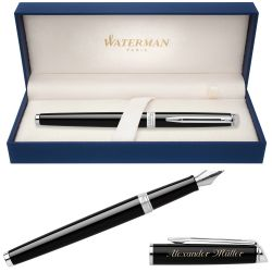 S0920510, S0701960 Waterman Hemisphere Перьевая ручка, цвет: Mars Black/CT, перо: F