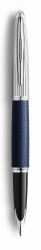 2099567 Waterman Carene Перьевая ручка   Special Edition Blue Leather  цвет: Blue/Silver, палладиевое перо: F