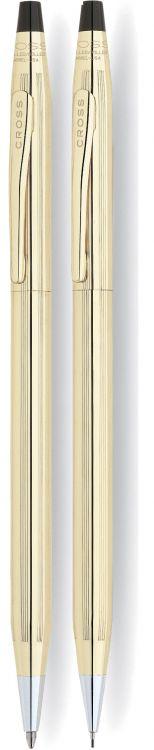 Набор Cross Century Classic: шариковая ручка и механический карандаш 0.7мм. Цвет - золотистый.