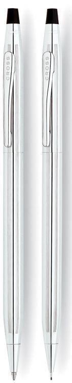 Набор Cross Century Classic: шариковая ручка и механический карандаш 0.7мм. Цвет - серебристый.