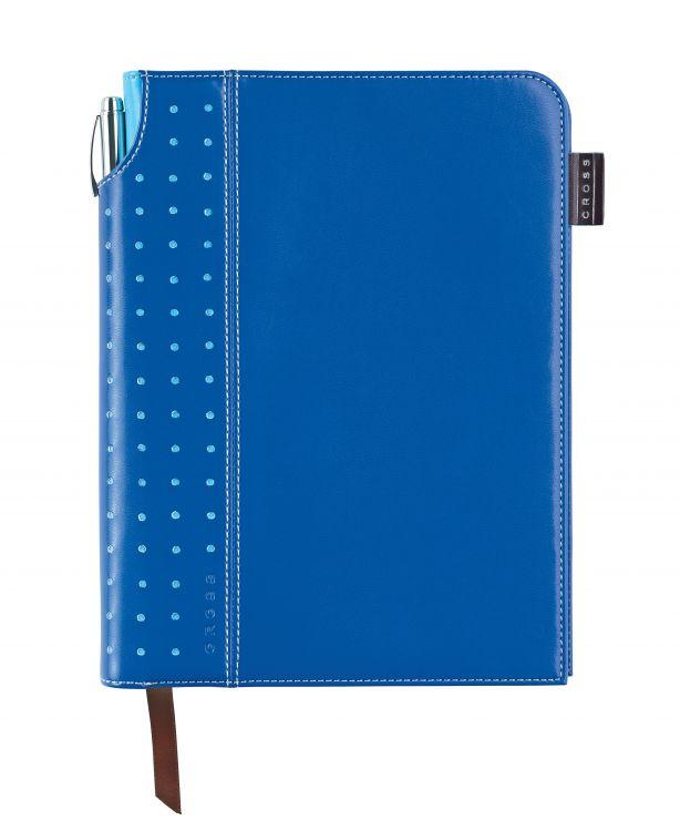 Записная книжка Cross Journal Signature A5, 250 страниц в линейку, ручка 3/4 в комплекте. Цвет - син