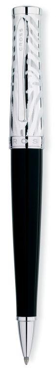 Шариковая ручка Cross Sauvage . Цвет - черный + серебристый.