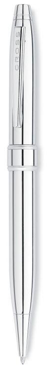 Шариковая ручка Cross Stratford. Цвет - серебристый.