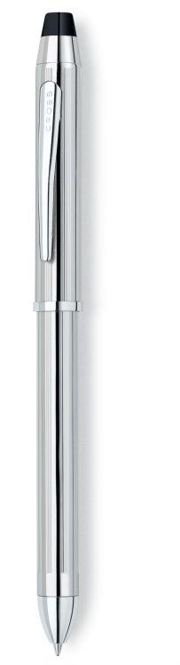 Многофункциональная ручка Cross Tech3+. Цвет - серебристый.