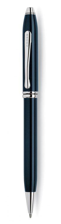 Шариковая ручка Cross Townsend, тонкий корпус. Цвет - синий.