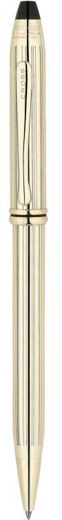 Шариковая ручка Cross Townsend, тонкий корпус. Цвет - золотистый.