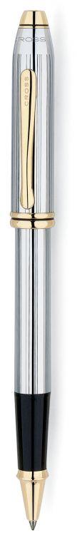 Ручка-роллер Selectip Cross Townsend. Цвет - серебристый с золотистой отделкой.