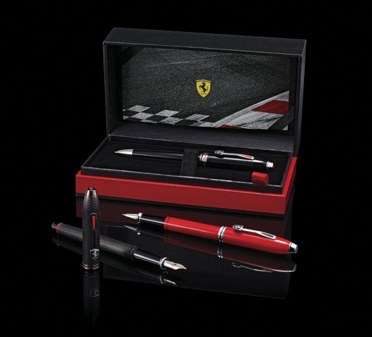 Шариковая ручка Cross Townsend Ferrari Brushed Black Etched Honeycomb Pattern / Black PVD