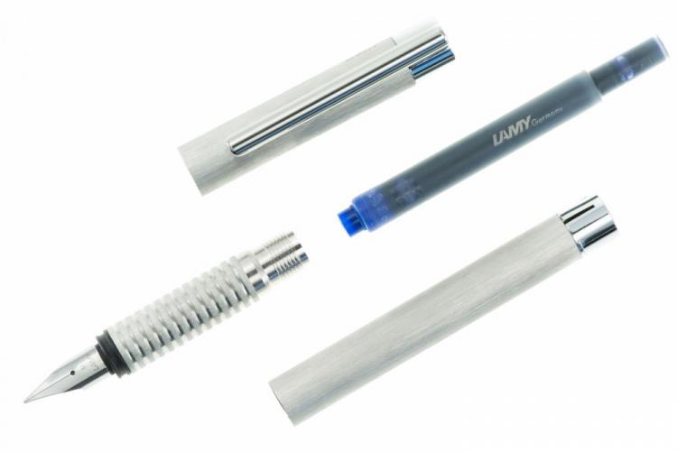 Ручка перьевая Lamy 006 logo, Матовая сталь, EF