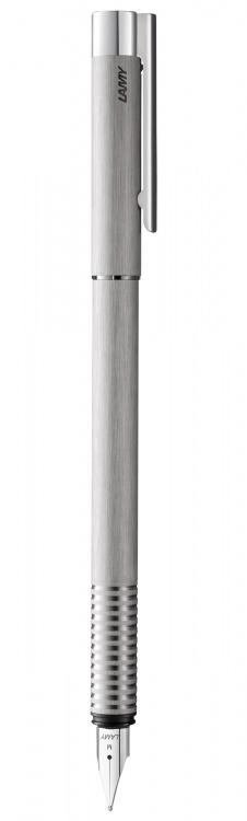 Ручка перьевая Lamy 006 logo, Матовая сталь, М