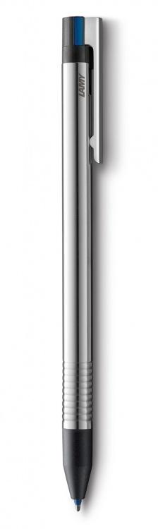 Ручка мультисистемная Lamy (3 цвета) 405 logo, Полированная сталь, M21