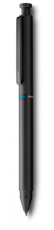 Ручка мультисистемная Lamy (синий+кар 0,5+красный) 746 st, Черный, M21