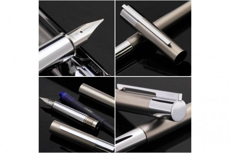 Ручка перьевая Lamy 078 scala, Титановое покрытие, F