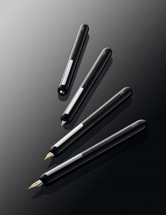 Ручка перьевая Lamy 074 dialog3, Черный лак, Fg