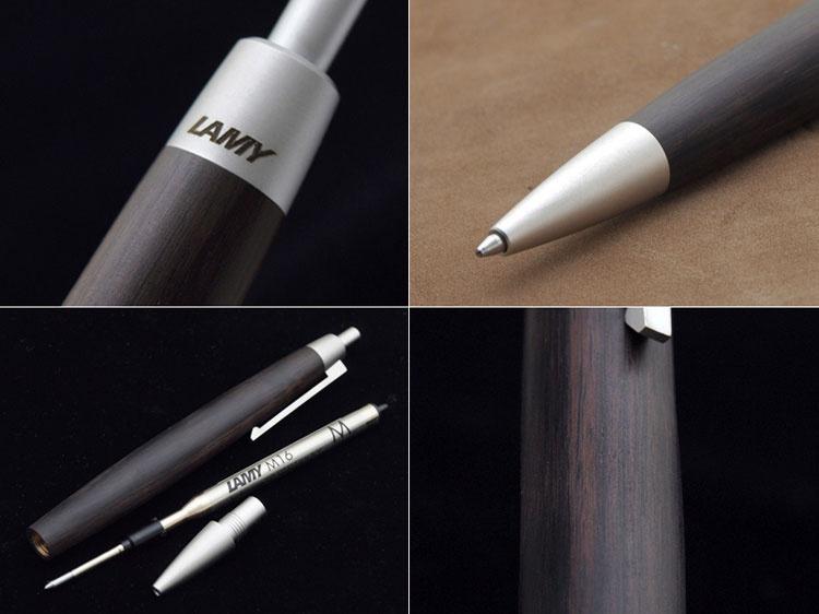Ручка шариковая Lamy 203 2000, Черное дерево, M16