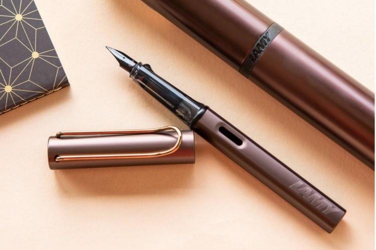 Ручка перьевая Lamy 090 lux, Marron, М