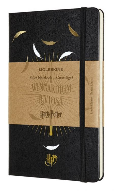 Блокнот Moleskine Limited Edition Harry Potter Large 130х210мм 240стр. линейка черный Leviosa