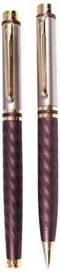 Набор: ручка шариковая + роллер Pierre Cardin PEN and PEN, корпус - латунь со спец.матовым покрытием