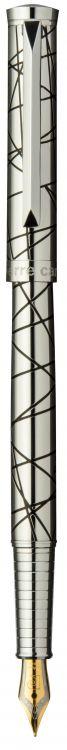 Перьевая ручка Pierre Cardin EVOLUTION,корпус и колпачок - латунь с гравировкой, покрытие металл