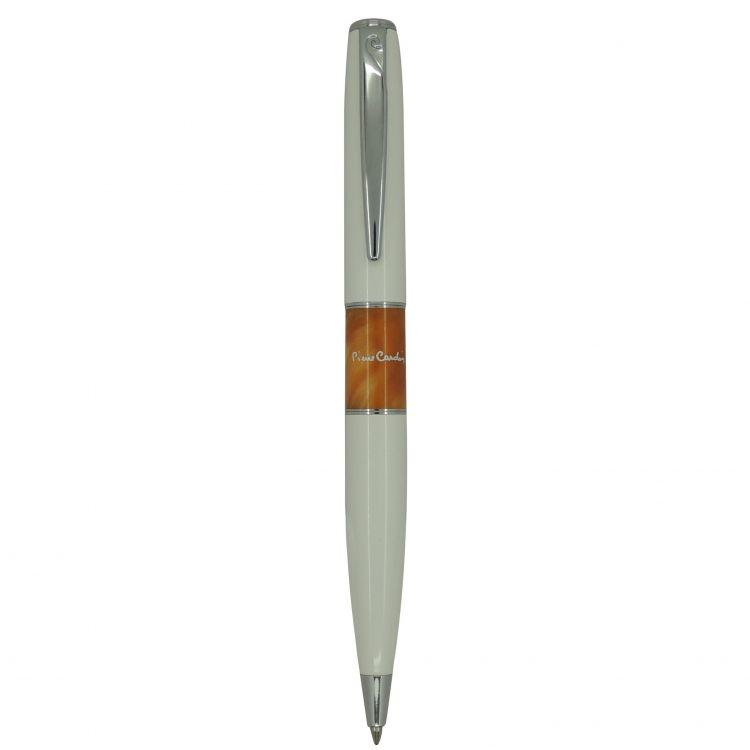 Ручка шариковая Pierre Cardin LIBRA, цвет - белый и оранжевый. Упаковка В