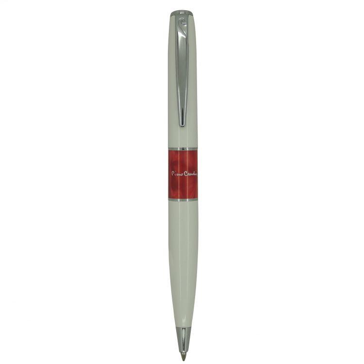 Ручка шариковая Pierre Cardin LIBRA, цвет - белый и красный. Упаковка В