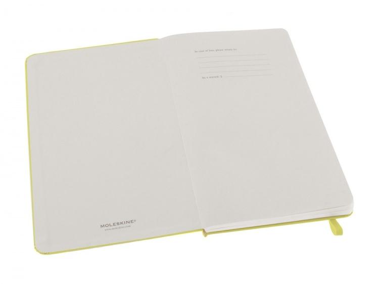Записная книжка Moleskine Classic (в линейку) в твердой обложке, Large (13х21см), цитрусовый