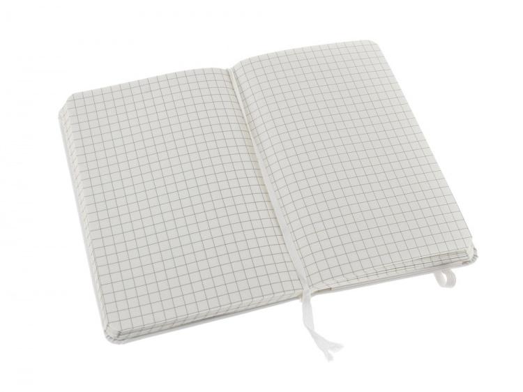 Записная книжка Moleskine Classic (в клетку), Pocket (9х14 см), белый