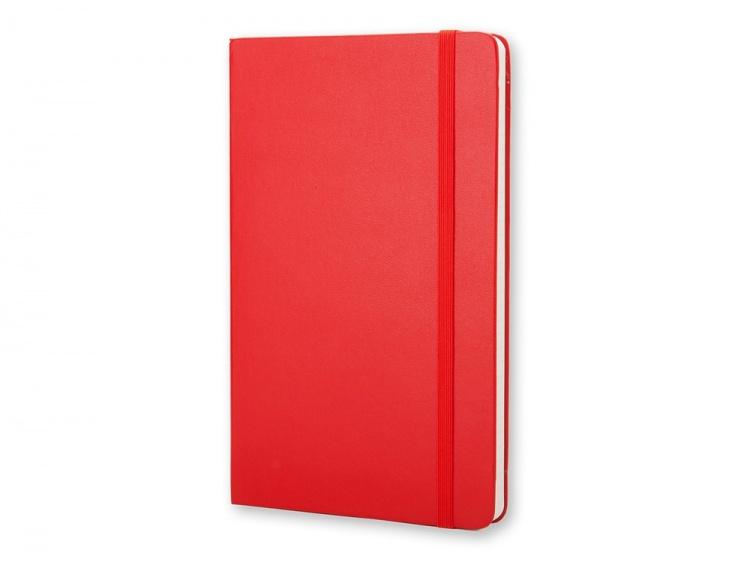 Записная книжка Moleskine Classic (в линейку) в твердой обложке, Pocket (9x14см), красный