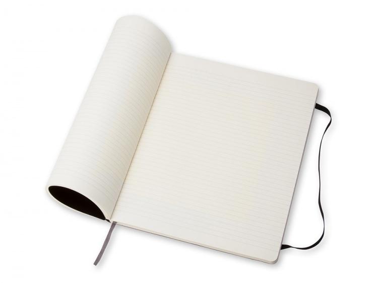 Записная книжка Moleskine Classic Soft (в линейку), ХLarge (19х25 см), черный