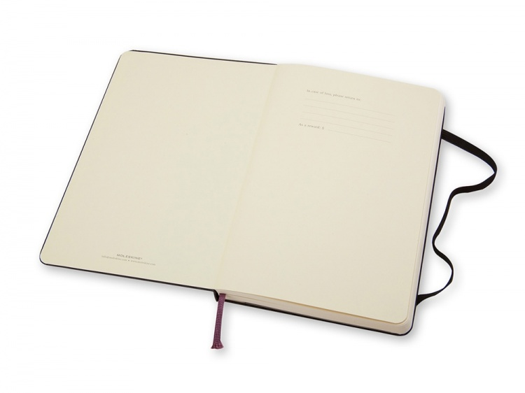 Записная книжка Moleskine Classic (нелинованный) в твердой обложке, Pocket (9x14см), черный