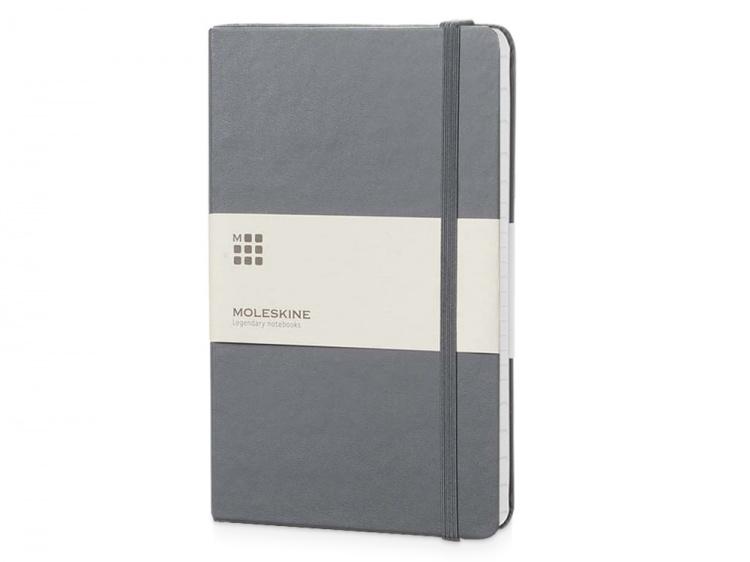 Записная книжка Moleskine Classic (в линейку) в твердой обложке, Large (13х21см), серый