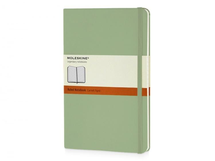 Записная книжка Moleskine Classic (в линейку) в твердой обложке, Large (13х21см), фисташковый