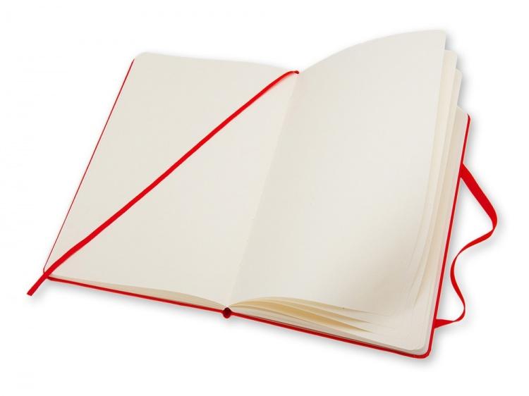 Записная книжка Moleskine Classic (нелинованный) в твердой обложке, Large (13х21см), красный